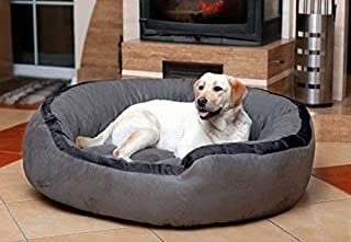 Hiputee Luxurious & Durable Polyester Filled Soft Dual Colour Dog/Cat Bed (Medium, Grey)