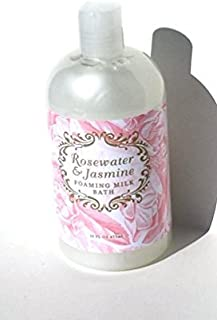 Greenwich Bay Rosewater Jasmine, Foaming Milk Bath with Buttermilk, Shea Butter and Cocoa Butter 16 oz