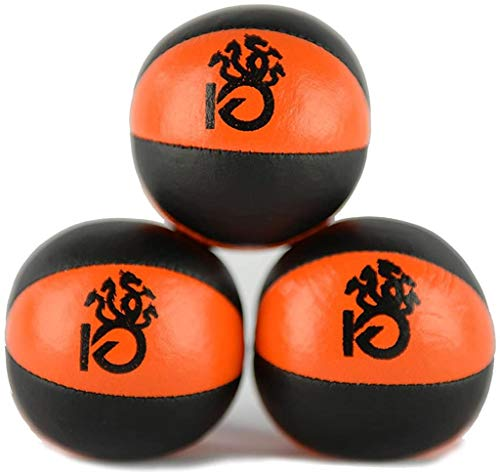 KICKFIRE Juggling Balls - Hydras Juggle Set - 6 Panel Leather - Juggling Equipment for Beginners & Professionals - Pack of 3