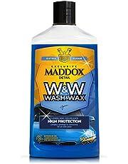 Maddox Detail - Wash & Wax. Geconcentreerde shampoo met carnaubawas. Reinigt, geeft glans en beschermt.