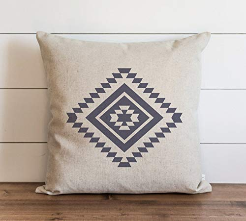 Aztec Pillow Cover Everyday Tribal Throw Pillow Gift Accent Pillow Cushion Cover Case Pillowcase with Hidden Zipper Closure for Sofa Bench Bed Home Decor 18 x 18 Inches