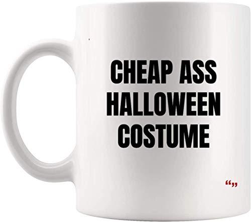 DKISEE Divertida taza de caf de cermica  Divertida taza de caf del equipo, divertido disfraz de Halloween para adultos | Regalo de cumpleaos para mejor amigo de 325 ml