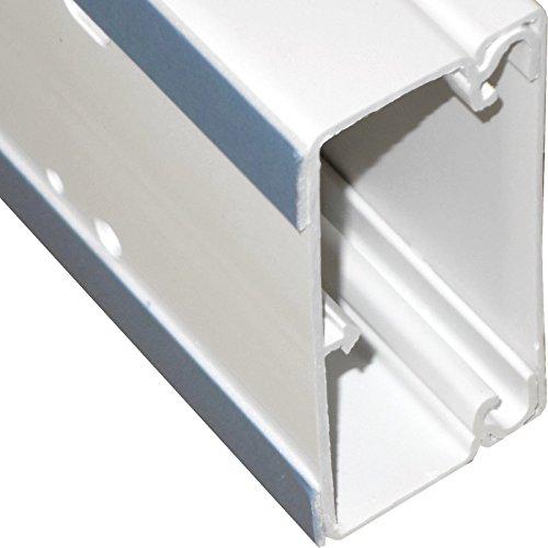 Preisvergleich Produktbild 1m Lönartz® Kabelkanal 40 x 90mm mit unterschäumtem Kleber,  hält auch auf strukturiertem Untergrund bombenfest (KK-40x90WS-1)