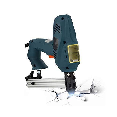 Sdesign Pistola eléctrica/Grapadora/Tacker/Grapa y Pistola de Clavos 2 en 1 □ para tapicería, Tejidos, Textiles y Madera Delgada