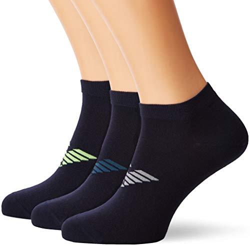 Emporio Armani Herren Socken, 3er Pack, Blau Blu 56335), 43/46 (Herstellergröße: L)