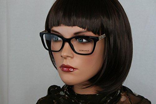 Versace Damen 0Ve3192B Brillengestell, schwarz, 52