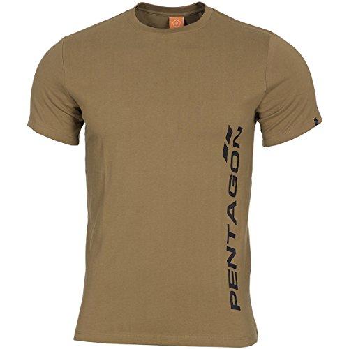 Pentagon Hommes Ageron T-Shirt Pentagon Vertical Coyote taille M