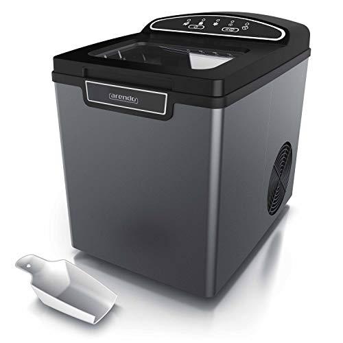 Arendo 722304981722 Máquina de cubitos de hielo de acero inoxidable, Diseño Cool Grey