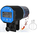 Lukovee Automatic Fish Feeder,New Generation Feeding Time Display USB Rechargeable Timer Moisture-Proof Aquarium or Fish Tank Food Dispenser with 200ML Large Capacity for Vacation Weekend Holiday