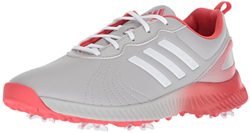 adidas Women's W Response Bounce Golf Shoe, Grey Two FTWR White/Real Coral s, 5.5 Medium US