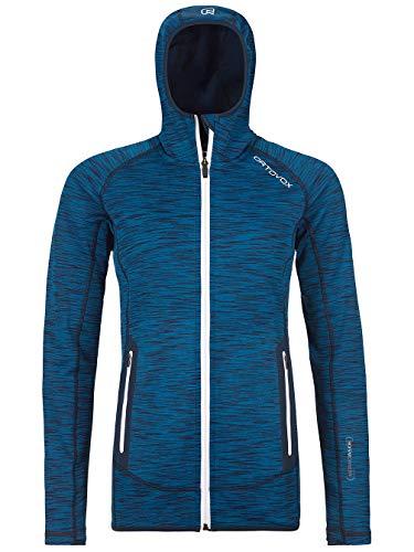ORTOVOX Damen Fleece Space Dyed Hoody, Blue Sea Blend, M