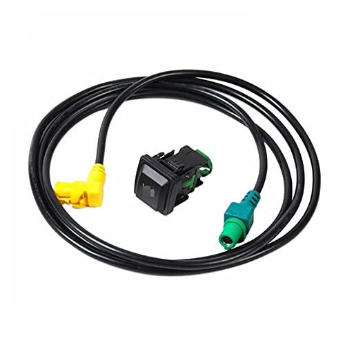 White skin RCD510 RNS315 Interruptor del Adaptador de Interfaz Botón de cableado ARAVE Ajuste para VW Golf MK5 MK6 Passat B6 B7 CC Scirocco 5KD035726A
