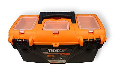 16' PREMIUM Werkzeugkoffer Leer Werkzeugkasten Werkzeugkiste Werkzeug Box TOP!!!