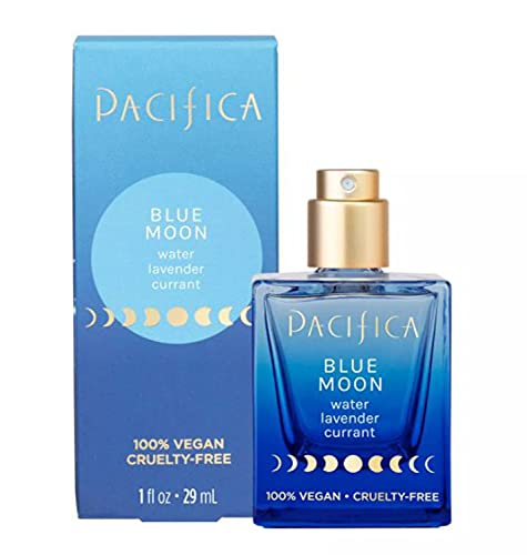 Pacifica Blue Moon Spray Perfume 1 Fl Oz! Blended Scents Of Water, Lavender, And Currant! Combination Of Floral and Fruit Notes! Vegan, Parabens Free & Cruelty Free!