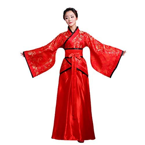 Inlefen Chino Hanfu Antiguo Tradicional Retro Costume Cosplay Rendimiento Vestido para Mujer