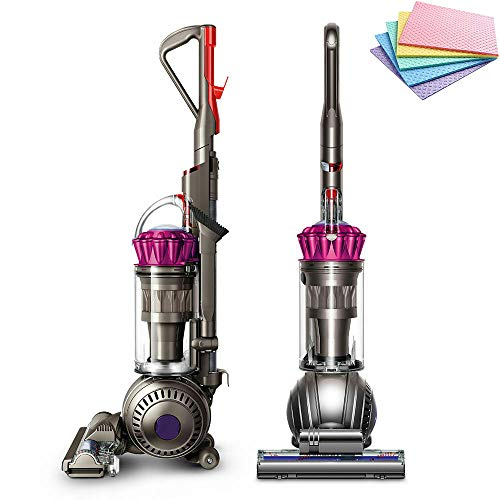 Dyson Ball Multi Floor Origin Vacuum Cleaner: High Performance, HEPA Filter, Upright, Bagless, Height Adjustment, Telescopic Handle, Self Propelled, Rotating Brushes, Fuchsia + iCarp Sponge Cloth