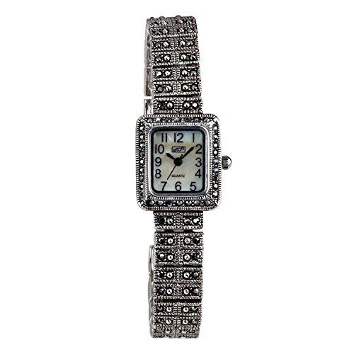 Eton Damen-Armbanduhr Markasit, MOP-Zifferblatt, antikes Finish – 3181L