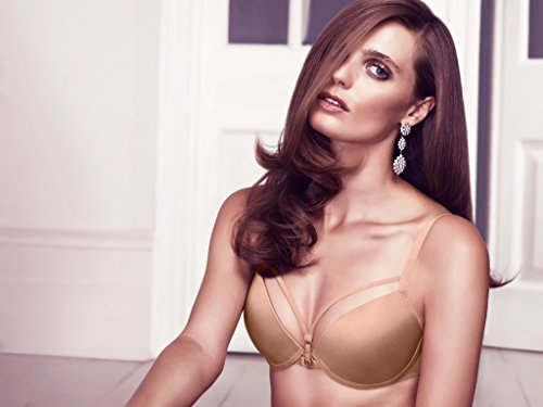 Marlies Dekkers 17151 Women's Space Odyssey Glossy Camel Solid Colour Padded Underwired Longline Push Up Bra