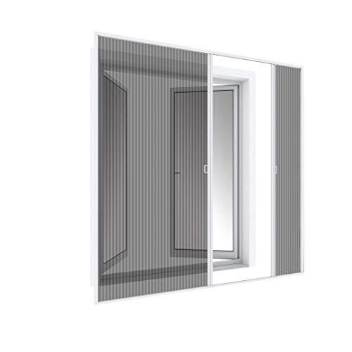 WIP Insektenschutz Fliegengitter Plissee-Doppeltür 240x240cm, weiß