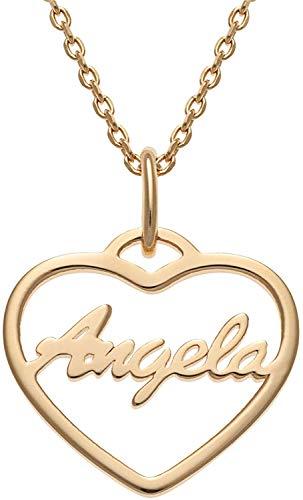 SHAREMORE Collar con nombre personalizado personalizado para hacer cualquier nombre colgante collar con nombre personalizado collares con nombre personalizado