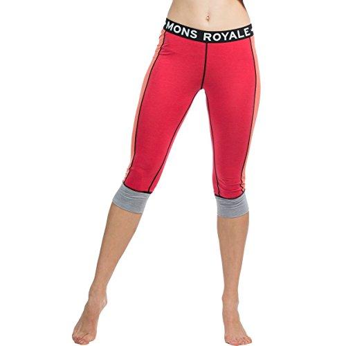 Mons Royale sous-vêtement de Ski en Laine mérinos Alagna 3/4 Legging Pantalon Fonctionnel