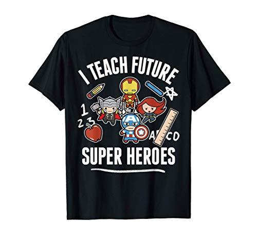 Marvel Avengers Classic I Teach Super Heroes Graphic T-Shirt T-Shirt