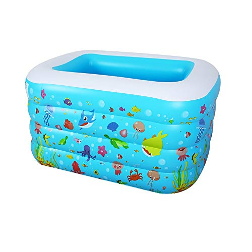 Xiao Jian- Inflable Piscina-bebé Piscina Hogar Inflable Plegable Aislamiento Familia Piscina Niños Engrosamiento Infantil Cubo de natación Piscina Inflable (Color : Azul)