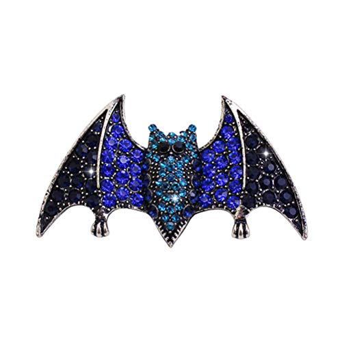 Amosfun Halloween Brooch Pin with Bat Shape Rhinestone Breastpin Halloween Accessories for Women Girls Ladies