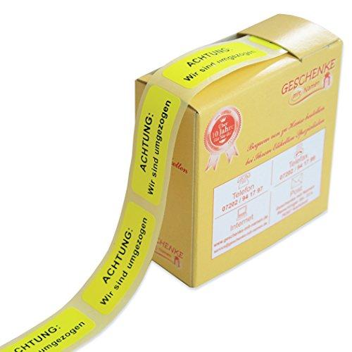 Geschenke mit Namen 1494 200 Signal-Etiketten