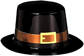 amscan Mini Pilgrim Black Top Hat for Thanksgiving Party | Accessory