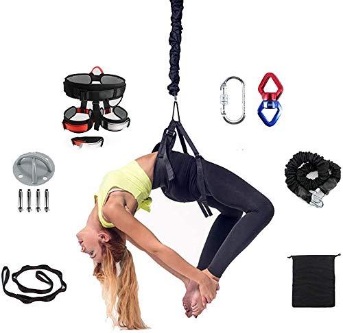 Yoga pesada Bungee cuerda la resistencia la correa formación Bungee gravedad Formación material herramienta Yoga Kit Bungee Cuerda, mejorar la fuerza y la agilidad la energía Gimnasio en casa,80kg