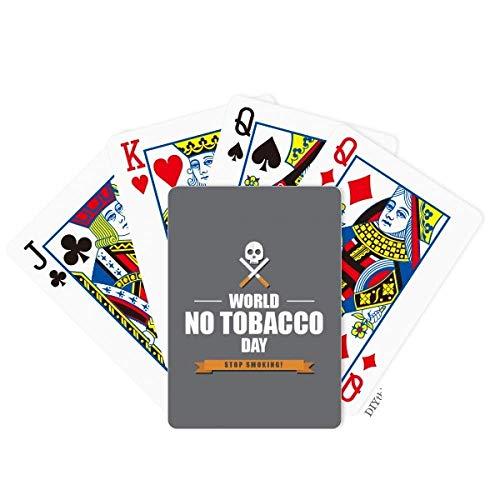 OFFbb-USA Logo World No Tobacoo Day No Smoking Poker Juego de mesa
