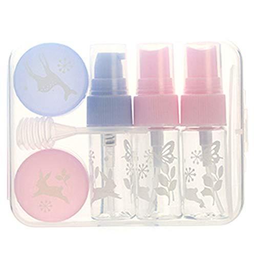 Kit de bouteille de maquillage, 5pcs / Set Kit de contenant de crème pour lotion de bouteille de lotion de pulvérisation portable réutilisable(B)