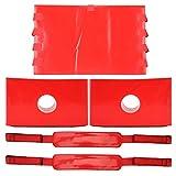 Inmovilizador de cabeza, inmovilizador de fijación de cabeza impermeable con correas para tablero vertebral reutilizable
