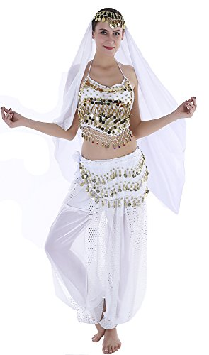 Sexy Halloween Costumes for Women Belly Dancer Costume Adult White - http://coolthings.us