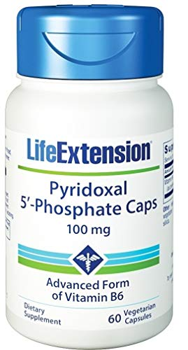 Life Extension Pyridoxal 5-Phosphate 100 Mg Vegetarian Capsules, 60-Count, 60ct