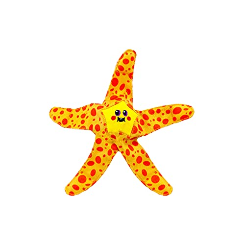 Floatiez Dog Toy - Floating Fetch Pool Toy, Great for Summer Water Fun, Starfish, Orange