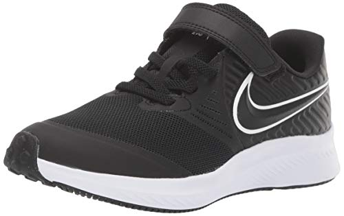 Nike Star Runner 2 (PSV), Zapatillas de Running, Negro (Black/White/Black/Volt 001), 27.5 EU