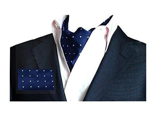 Wookki 100% Handmade Cravate Tie Ascot Homme Jeune Garçons En Polyester Soie A Poids Classique Rétro Pour Travail Fête Cérémonie Mariage Conférence Bl