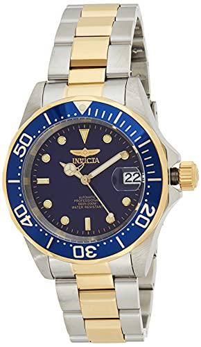 Invicta Pro Diver 8928 Reloj para Hombre Automático, 40mm, Azul/Dorado-Plateado