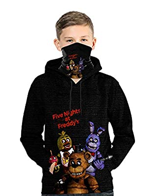 Five Nights at Freddy's Youth Hoodie Pullover Sweatshirts for Boys Girls M
