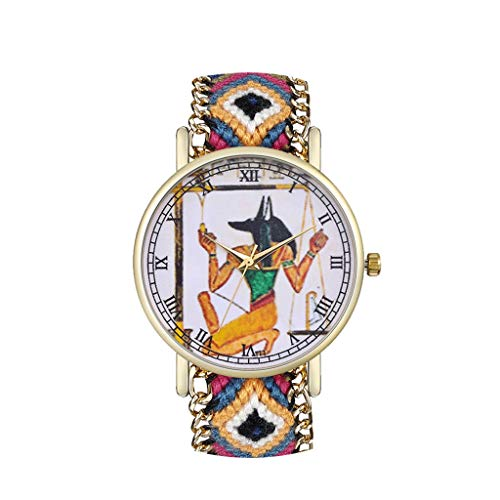 Luotuo Armbanduhr Damen Exquisit Analog Quarz Uhr Mode Frauen Ø38mm Legierung Ultradünn Drucken Dial Wolle Weben Armband Wild Geschäft Freizeit Watch Handschmuck