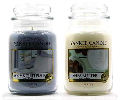 Yankee Candle, barattoli grandi con fragranze classiche, 623 g, Shea Butter + A Calm & Quiet Place