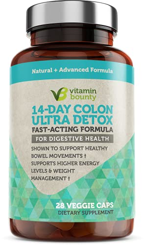 Colon 14 Day Gentle Cleanse, Colon Detox That Supports Healthy Bowel Movements - Vitamin Bounty