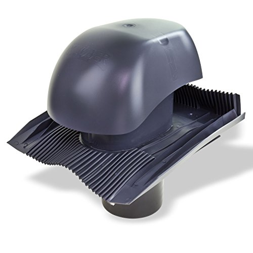 Klöber Venduct Lüfter-Set DN150 anthrazit Universal Dachentlüftung Dachlüftung Dunstabzug KE0561-0429