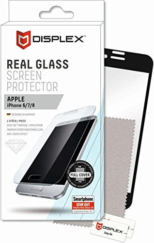 DISPLEX Real Glass 3D für Apple iPhone 6/7/8 schwarz Case-Friendly