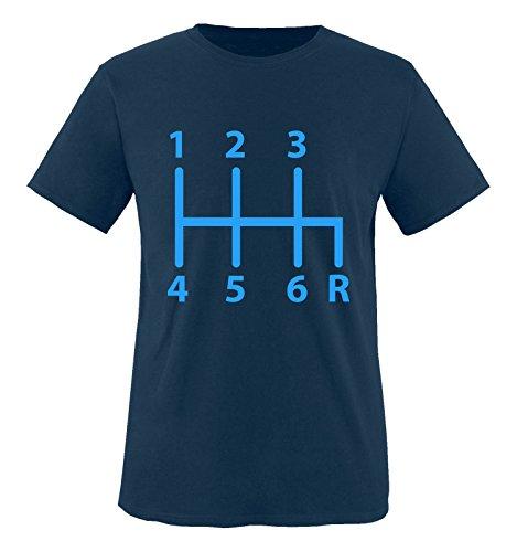 Comedy Shirts - Gangschaltung 6 Gang - Jungen T-Shirt - Navy/Blau Gr. 110-116