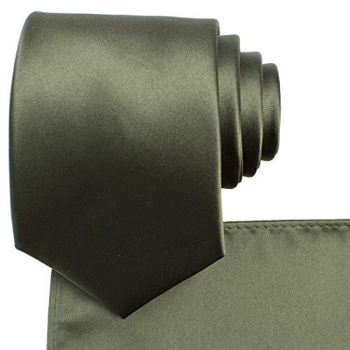 KissTies Dark Olive Green Necktie a…