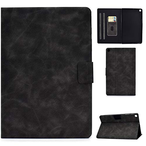 Zhouzl Galaxy tablet case For Samsung Galaxy Tab A 10.1 (2019) T510/T515 Cowhide Texture Horizontal Flip Leather Case with Holder & Card Slots Galaxy tablet case (Color : Grey)
