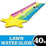 Product Image of the BigMouth Inc. Rainbow Stripe Lawn Water Slide – 40' x 8', Includes Anchor Kit...